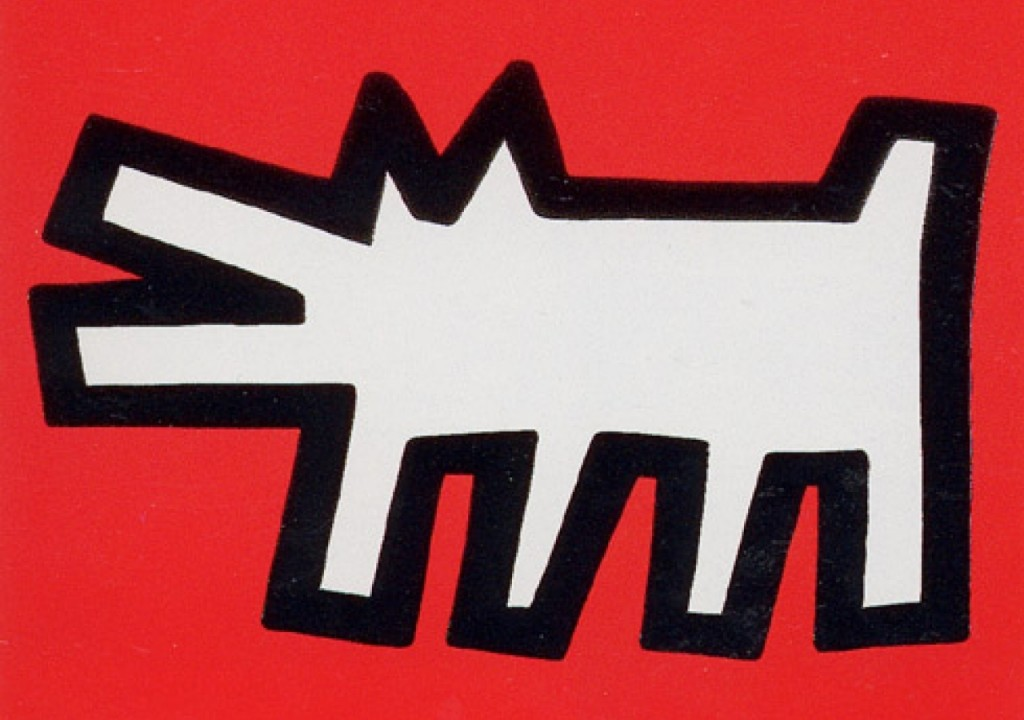 Keith Haring paintings dog